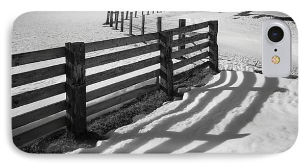 Winter Fence IPhone Case by Inge Johnsson