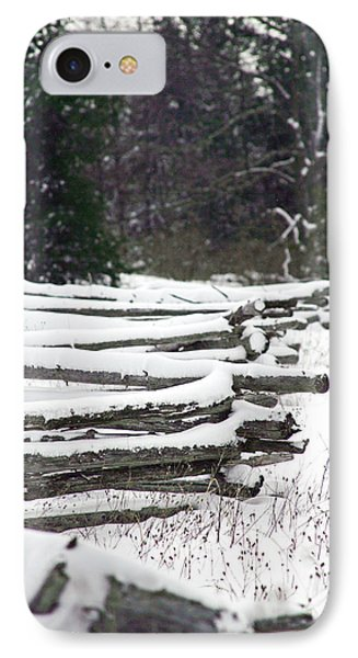 Winter Fence Phone Case by Ty Helbach