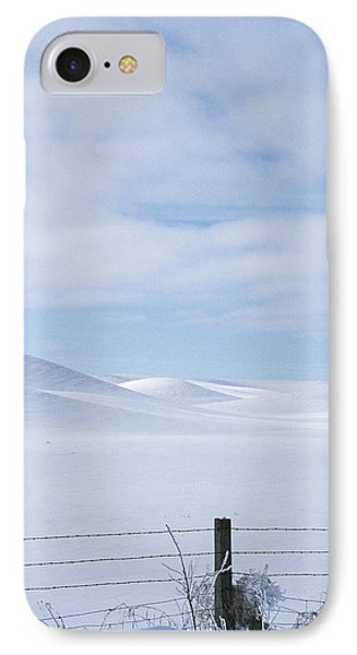 Winter Fenceline IPhone Case by Latah Trail Foundation
