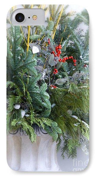 Winter Floral Arrangement IPhone Case by Birgit Tyrrell