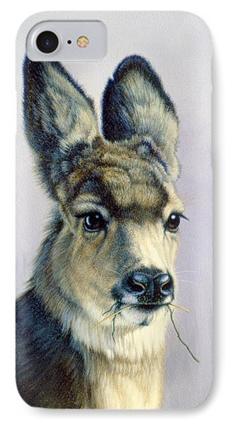 Winter Forage-fawn Phone Case by Paul Krapf
