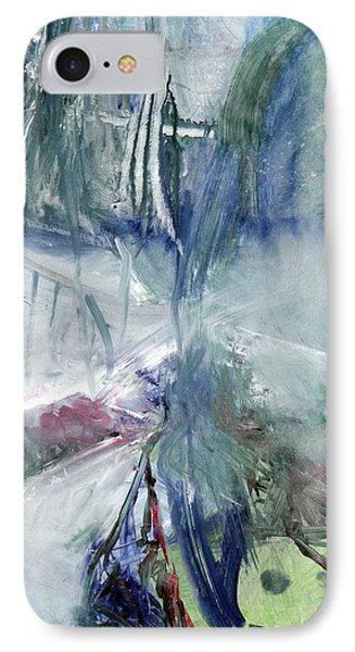 IPhone Case featuring the painting Winter Forest Painting by John Fish