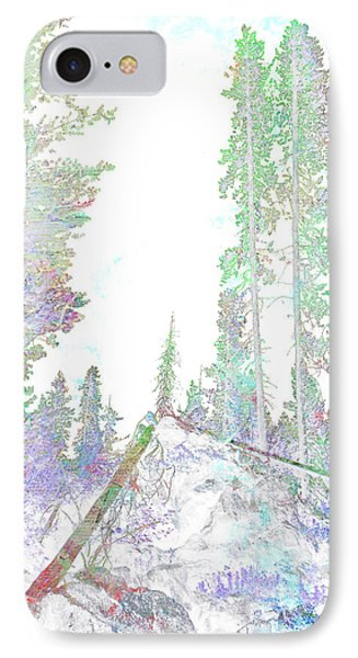 Winter Forest Scene Phone Case by John Fish