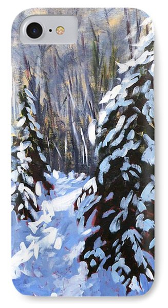 Winter Forest Walk IPhone Case by Diane Arlitt