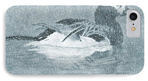 Winter Fowl IPhone Case by Mosav Art