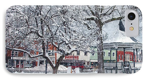 Winter Gazebo Phone Case by Joann Vitali