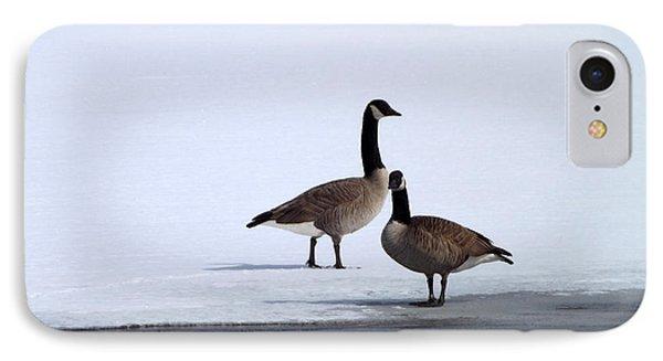 Winter Geese Phone Case by Michael Sokalski