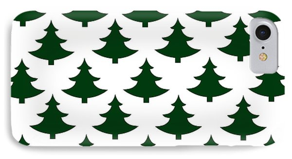 Winter Green Christmas Tree IPhone Case by Chastity Hoff