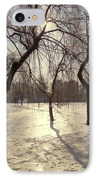 Willows In Winter IPhone Case by Henryk Gorecki