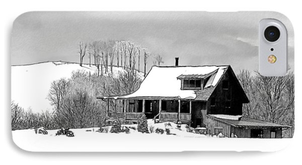 Winter Home IPhone Case by John Haldane