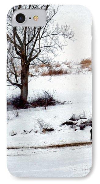 Winter Horse Pasture 1 IPhone Case