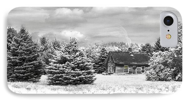 IPhone Case featuring the photograph Winter House On The Prairie by John Hix