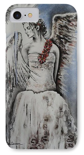 Winter Ice Angel Phone Case by Carla Carson