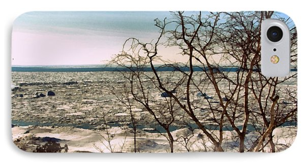 Winter Ice On Lake Michigan IPhone Case by Michelle Calkins