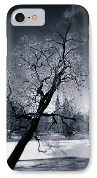 Winter In Central Park IPhone Case by Dave Bowman
