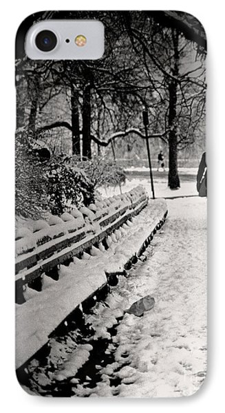 Winter In Central Park Phone Case by Madeline Ellis