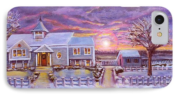 IPhone Case featuring the painting Winter In Great Harbors 2 by Rita Brown