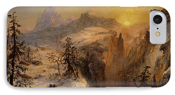 Winter In Switzerland IPhone Case by Jasper Francis Cropsey