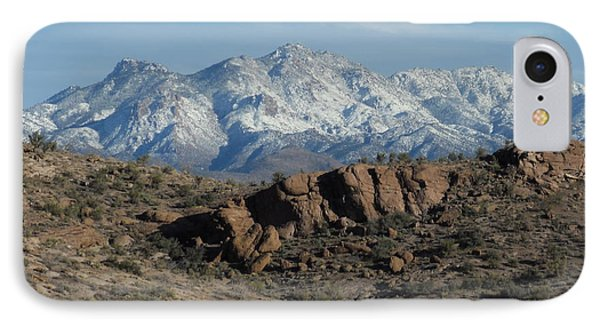 Winter In The  Mohave Desert IPhone Case