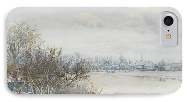 Winter In The Ouse Valley Phone Case by William Fraser Garden