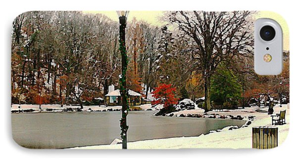 Winter In The Park IPhone Case by Judy Palkimas
