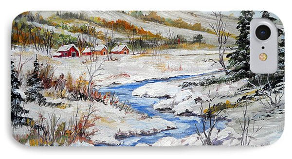 Winter In The Village IPhone Case by Dorothy Maier