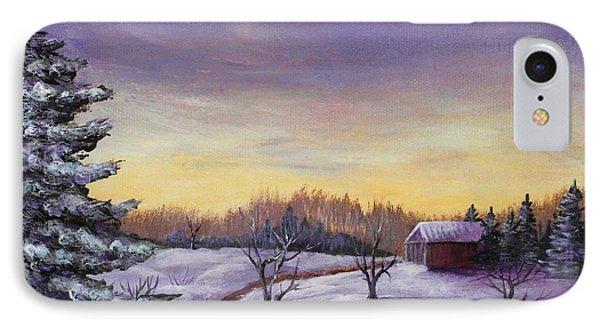 Winter In Vermont Phone Case by Anastasiya Malakhova