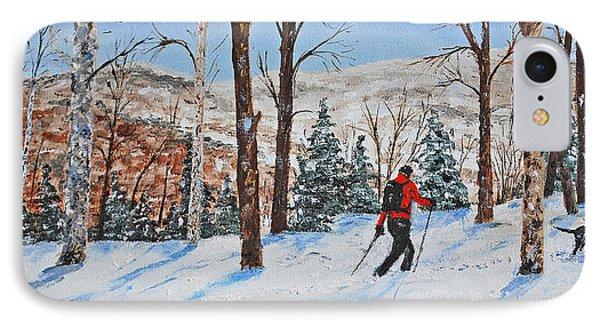 Winter In Vermont Woods IPhone Case