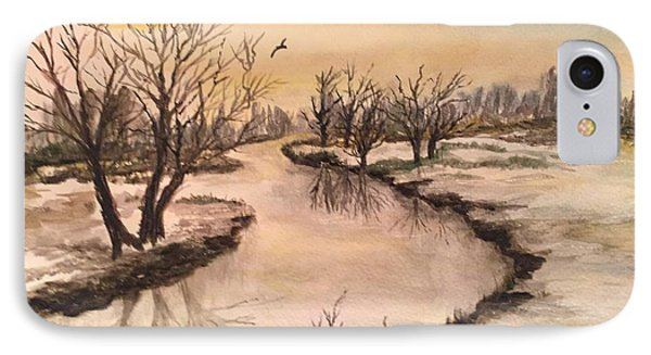 Winter Lake Scene IPhone Case
