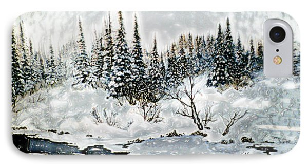 Winter Lake Sunset 2 IPhone Case by Hanne Lore Koehler
