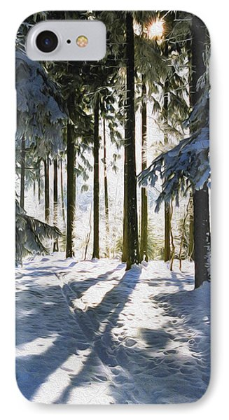 Winter Landscape IPhone Case by Aged Pixel