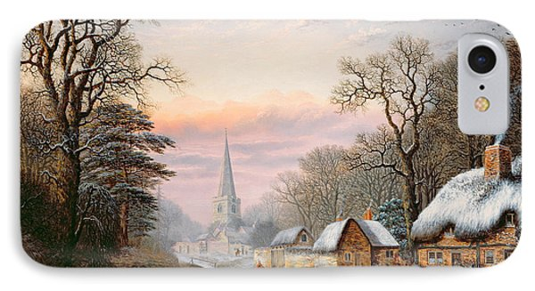 Winter Landscape IPhone Case by Charles Leaver