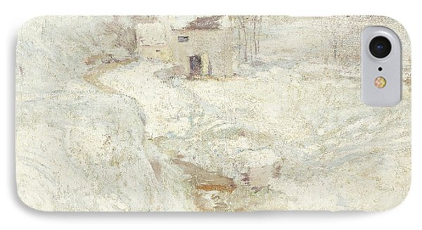 Winter Landscape Phone Case by John Henry Twachtman