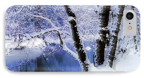 Winter Landscape Yosemite Valley IPhone Case