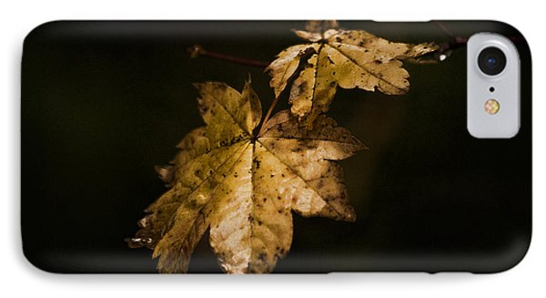 Winter Leaves IPhone Case by Ron Roberts