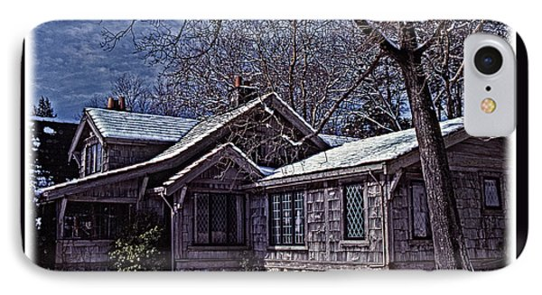 IPhone Case featuring the digital art Winter Lodge by Richard Farrington