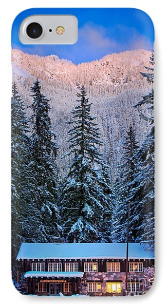 Winter Lodging Phone Case by Inge Johnsson