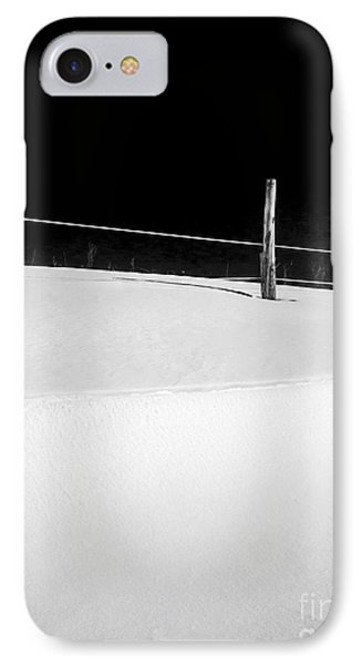 Winter Minimalism Black And White IPhone Case by Edward Fielding