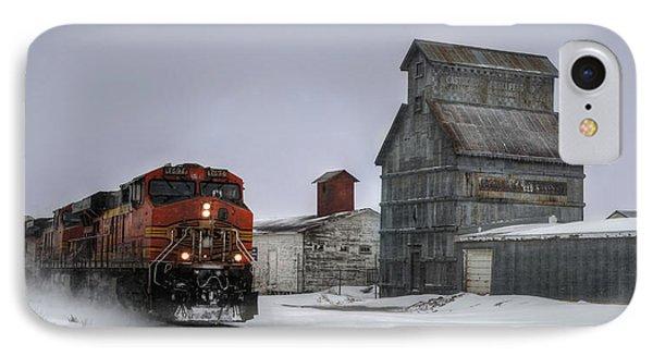 Winter Mixed Freight Through Castle Rock IPhone Case by Ken Smith