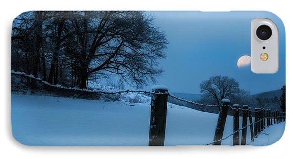 Winter Moon Phone Case by Bill Wakeley
