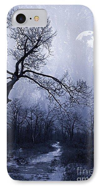 Winter Moonlight Blues IPhone Case by John Stephens