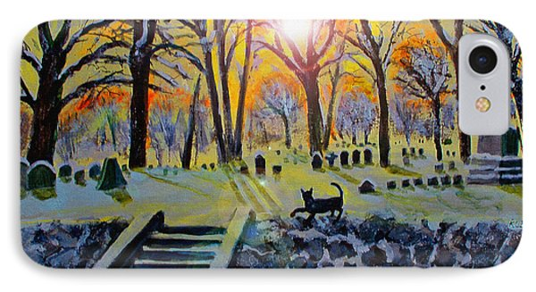 IPhone Case featuring the painting Winter Morn At Grove Hill by Rita Brown