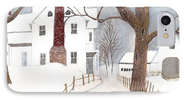 IPhone Case featuring the painting Winter Morning At The Big White House by June Holwell