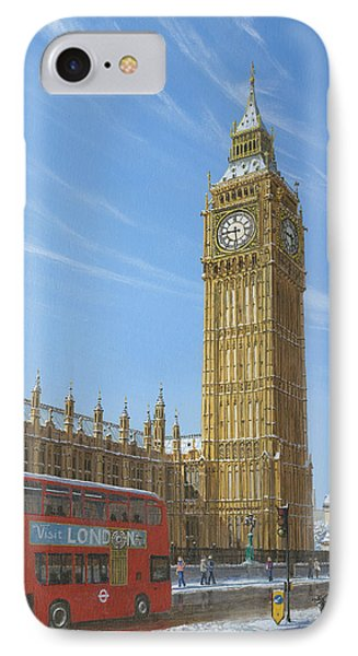 Winter Morning Big Ben Elizabeth Tower London IPhone Case by Richard Harpum