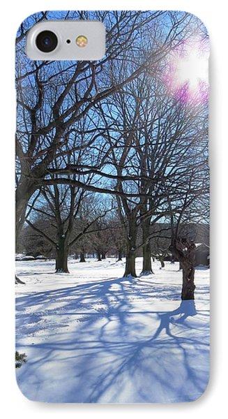 Winter Morning Boston Back Bay  Phone Case by Nina Donner