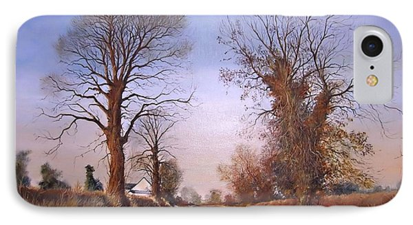 Winter Morning On Calverton Lane IPhone Case