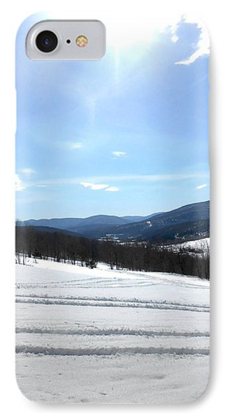 Winter Mountain Views Of Vly And Hunter Phone Case by Patricia Keller