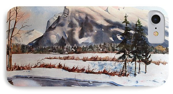 Winter Near Banff IPhone Case by Marta Styk
