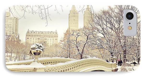 Winter - New York City - Central Park IPhone Case by Vivienne Gucwa