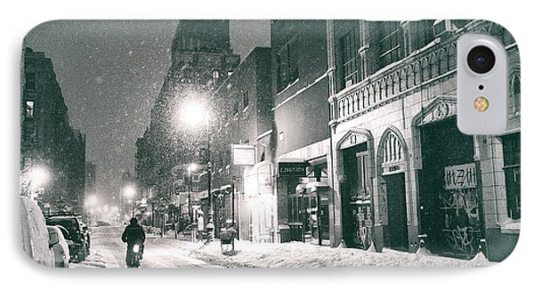Winter Night - New York City - Lower East Side IPhone Case by Vivienne Gucwa